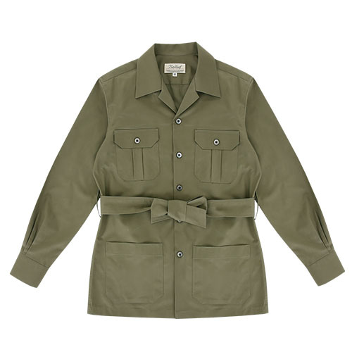 [벨리프] Gaberdine cotton safari shirt jacket (Olive)